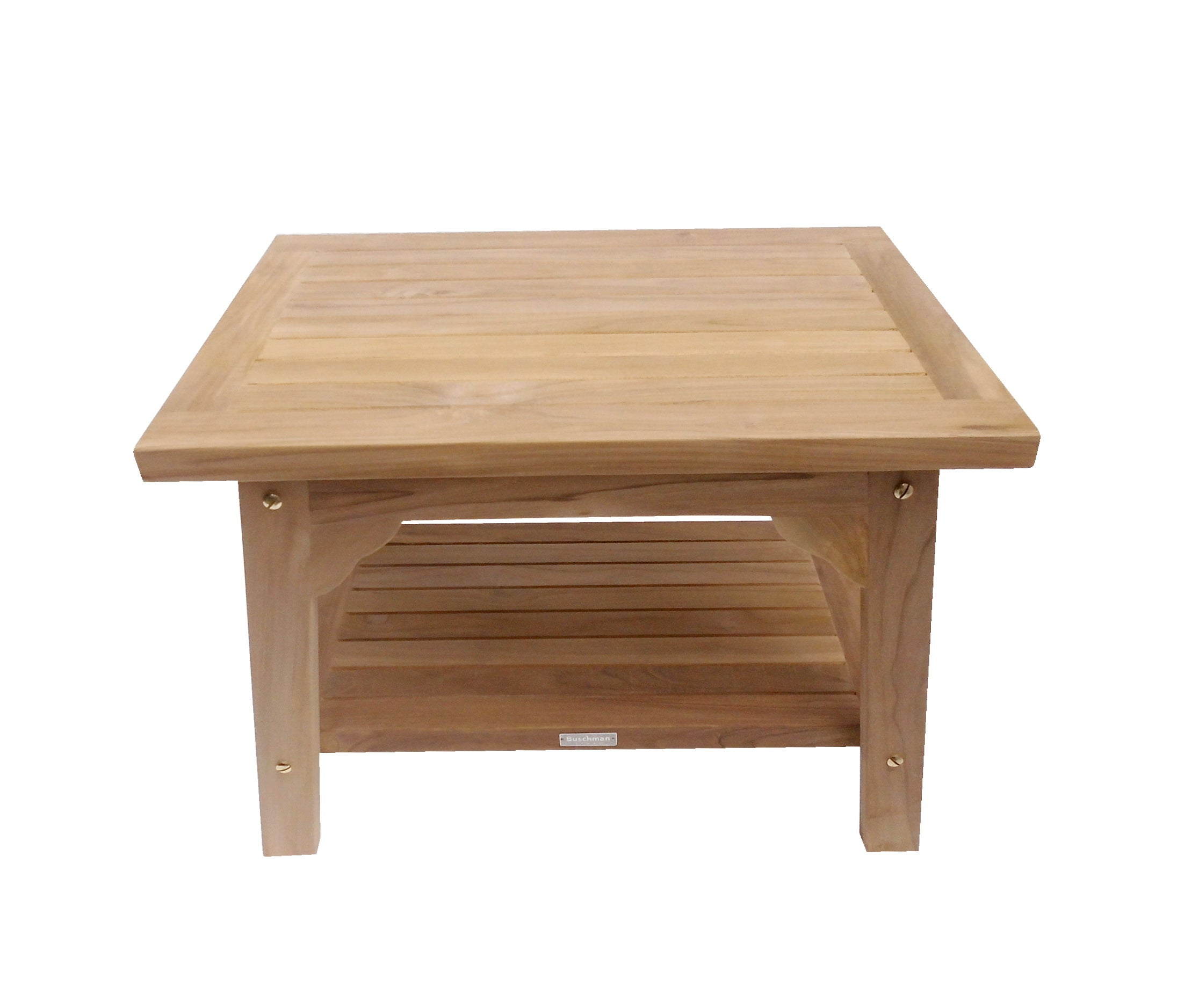 Buschman 24 Inches Teak Shower Bench with Shelf