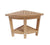 Buschman 24 Inches Corner Wood Shower Table Bench Stool with Shelf