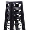 Buschman Set of 4 Matte Black 30 Inch Bar Height Metal Bar Stools, Indoor/Outdoor Stackable