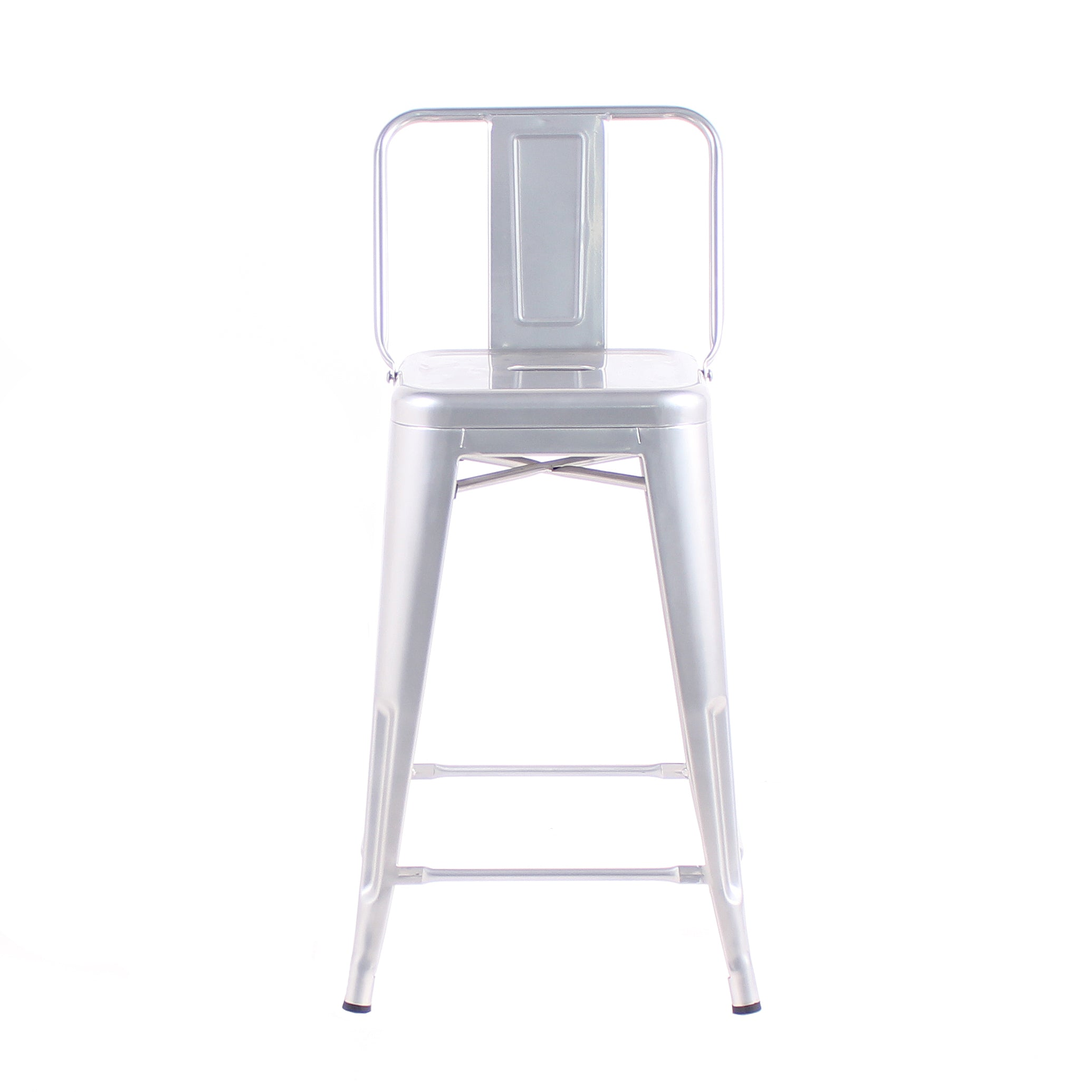 Surprising Buschman Set Of 4 Grey 24 Inch Counter Height Metal Bar Stools With Medium Back Indoor Outdoor Forskolin Free Trial Chair Design Images Forskolin Free Trialorg