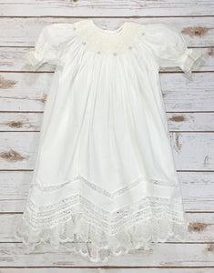 Caroline - Smocked Dress with Heirloom Detail