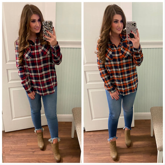 Rowan Plaid Top