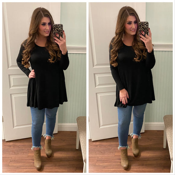 Raleigh Tunic in Black