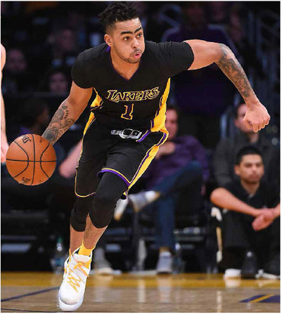 D'Angelo Russell, Los Angeles Lakers in Leorever Mens Compression Tights