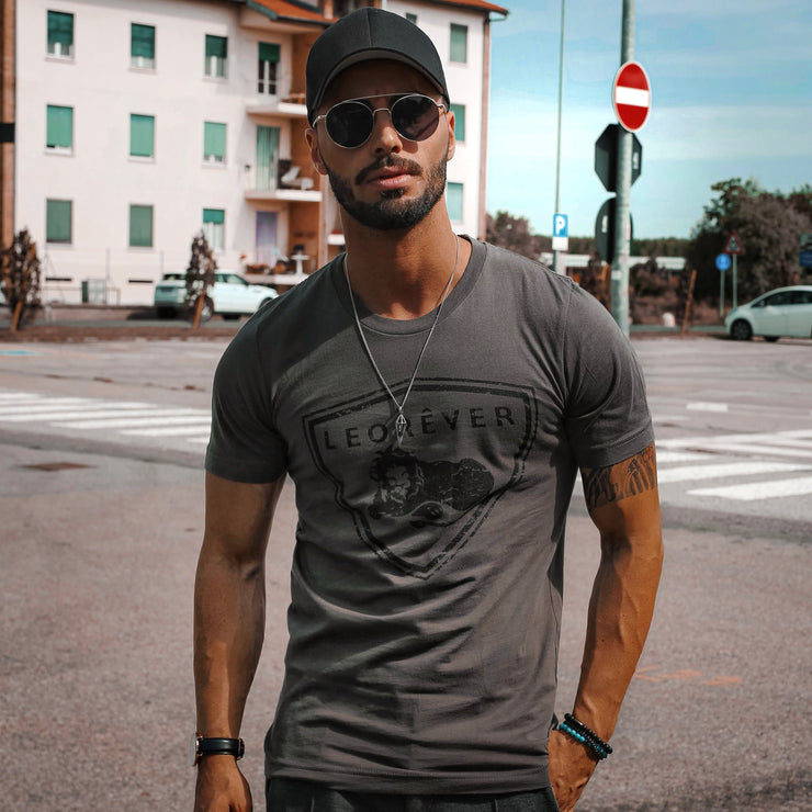 Shield T-Shirt Charcoal Grey