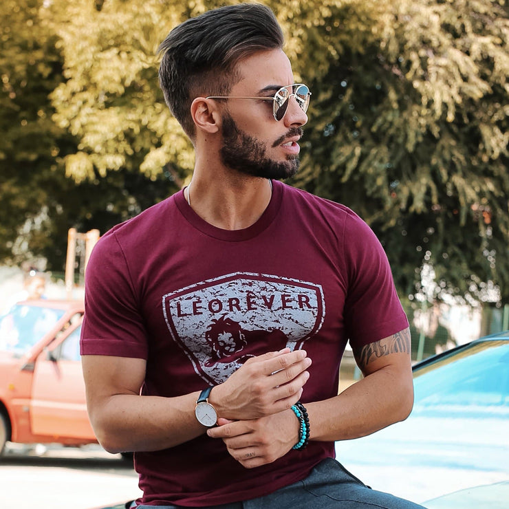 Shield T-Shirt Maroon