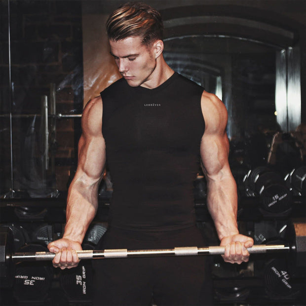 Mens Performance Sleeveless Compression Shirt