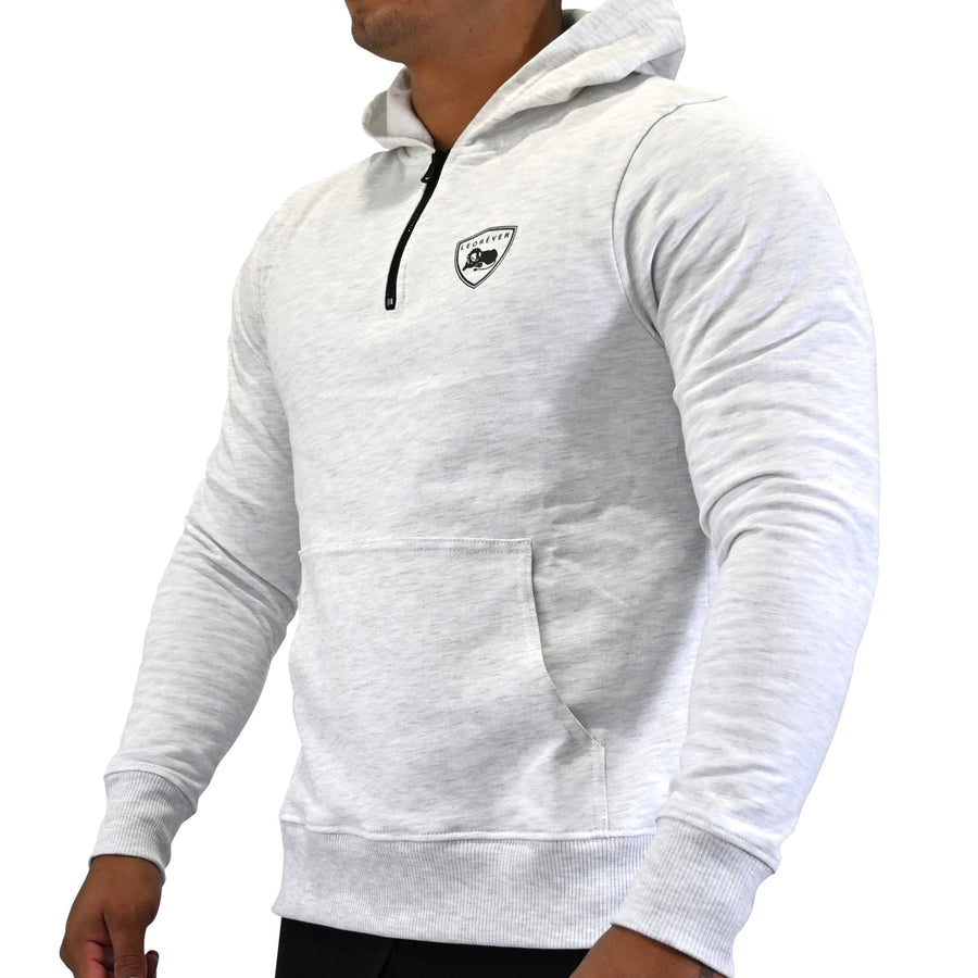 American Cotton Fleece Quarter Zip Hooded Sweatshirt