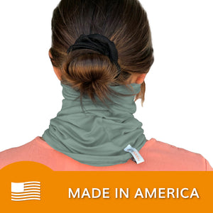 Face Mask, Neck Gaiter, (Sage Green) | HappyLuxe
