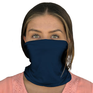 Face Mask, Neck Gaiter, (Navy Blue) | HappyLuxe