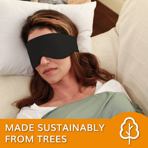 Sleep Mask for Women and Men (Jet Black) - Happyluxe