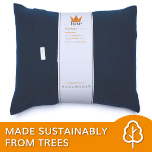 Small Pillow in Navy Blue - HappyLuxe