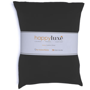 Small Pillow in Jet Black - HappyLuxe