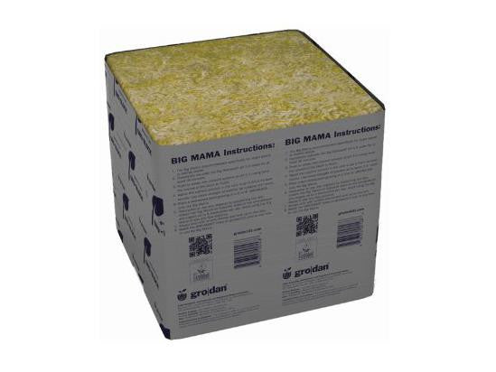 "Grodan Rockwool Cube 8"" Square Big Mama No Hole"