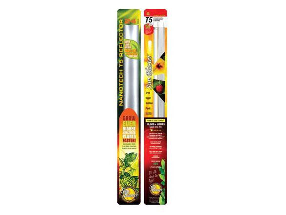 SunBlaster T5 HO Fluorescent Plant Grow Lighting - Combo w/ Reflector 24""