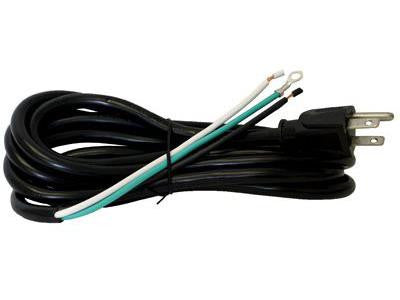 Light Energy Power Cord - 300V 14/3 Male 15A Plug to Bare Wires 12' Length