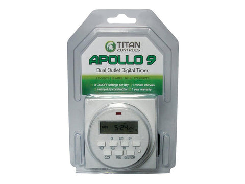 Titan By NGW Timer Dual Outlet Digital Apollo 9