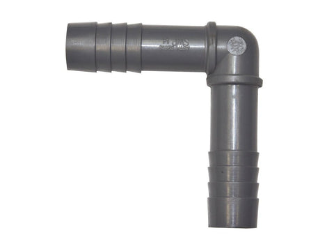 "Grotek Pump / Dripper Hose 1"" Barbed Insert Adapter Elbow 4180"