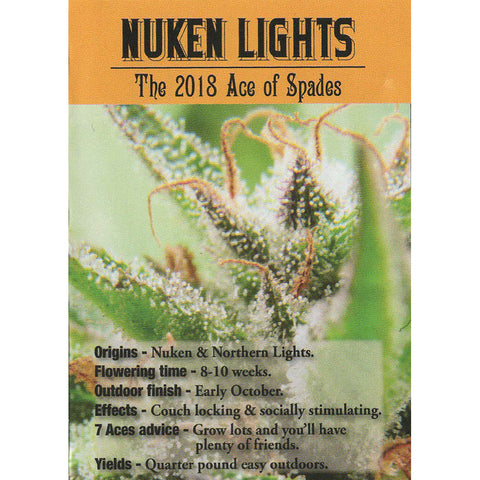 7 Aces Seeds - Nuken Lights - 15-Pack Regular / Photoperiod (Not Feminized)