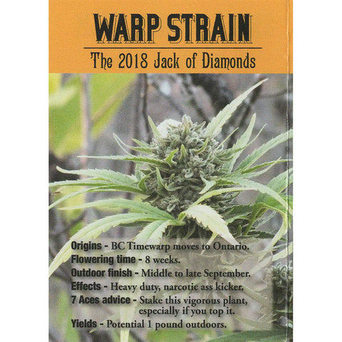 7 Aces Seeds - Warp Strain - 15-Pack Regular / Photoperiod (Not Feminized)