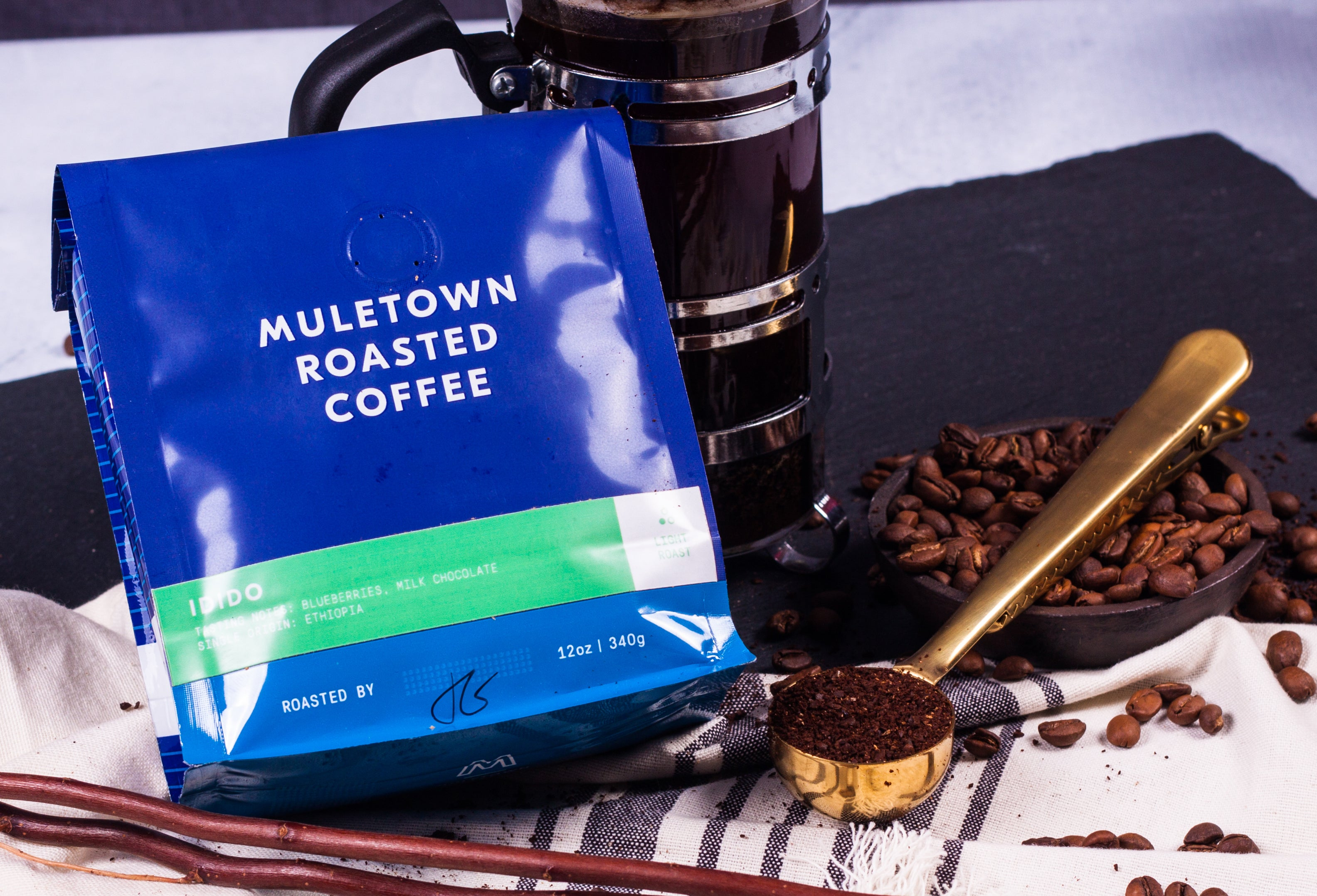 <a href='https://muletowncoffee.com/products/ethiopa-idido?variant=33170391052' target='_blank'> <b>Muletown Roasted Coffee - Ethiopia Idido Light Roast</b><br>