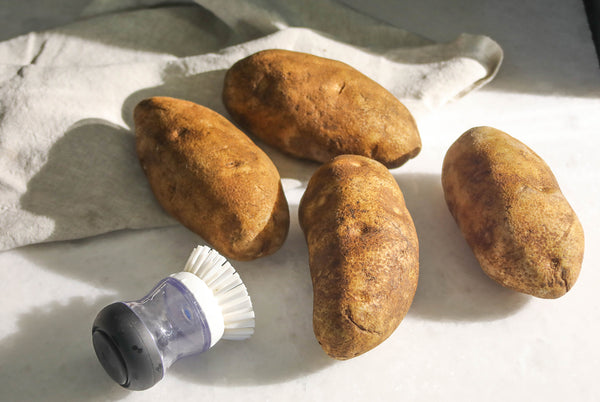 Washed and Scrubbed Russet Potatoes