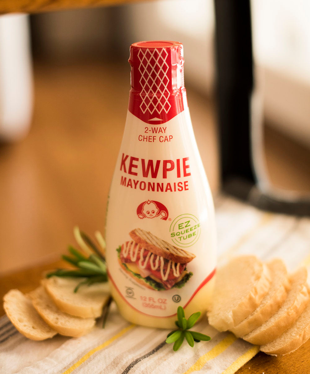 "<a href='http://kewpieusa.com/' target='_blank'><b>Kewpie Japanese Mayonnaise</b></a><br> Kewpie gives every dish a rich, tangy, and distinctive character. Known for its ""umami"" taste, it has a rich and creamy texture that will reinvigorate older recipes into new delights."