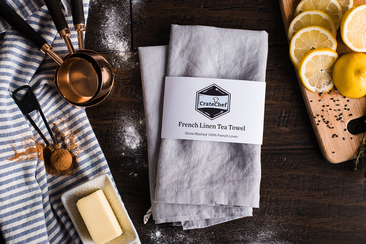 100% French Linen Tea Towel