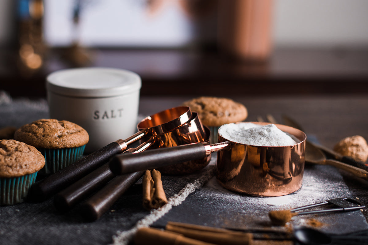 Copper Measuring Cup Set