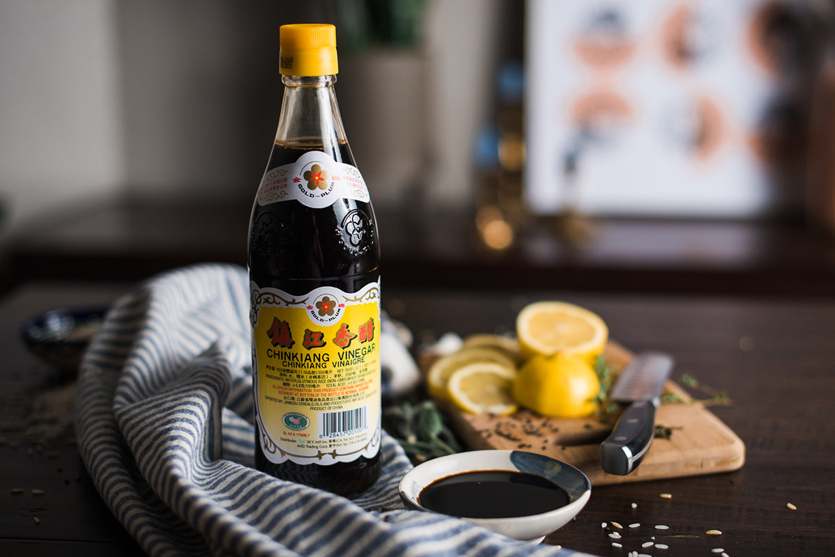 <a target='_blank' href='https://amzn.to/2IkoPpM'>Gold Plum Chiangang Black Vinegar. There are other black vinegar's but this one is the star. </a>