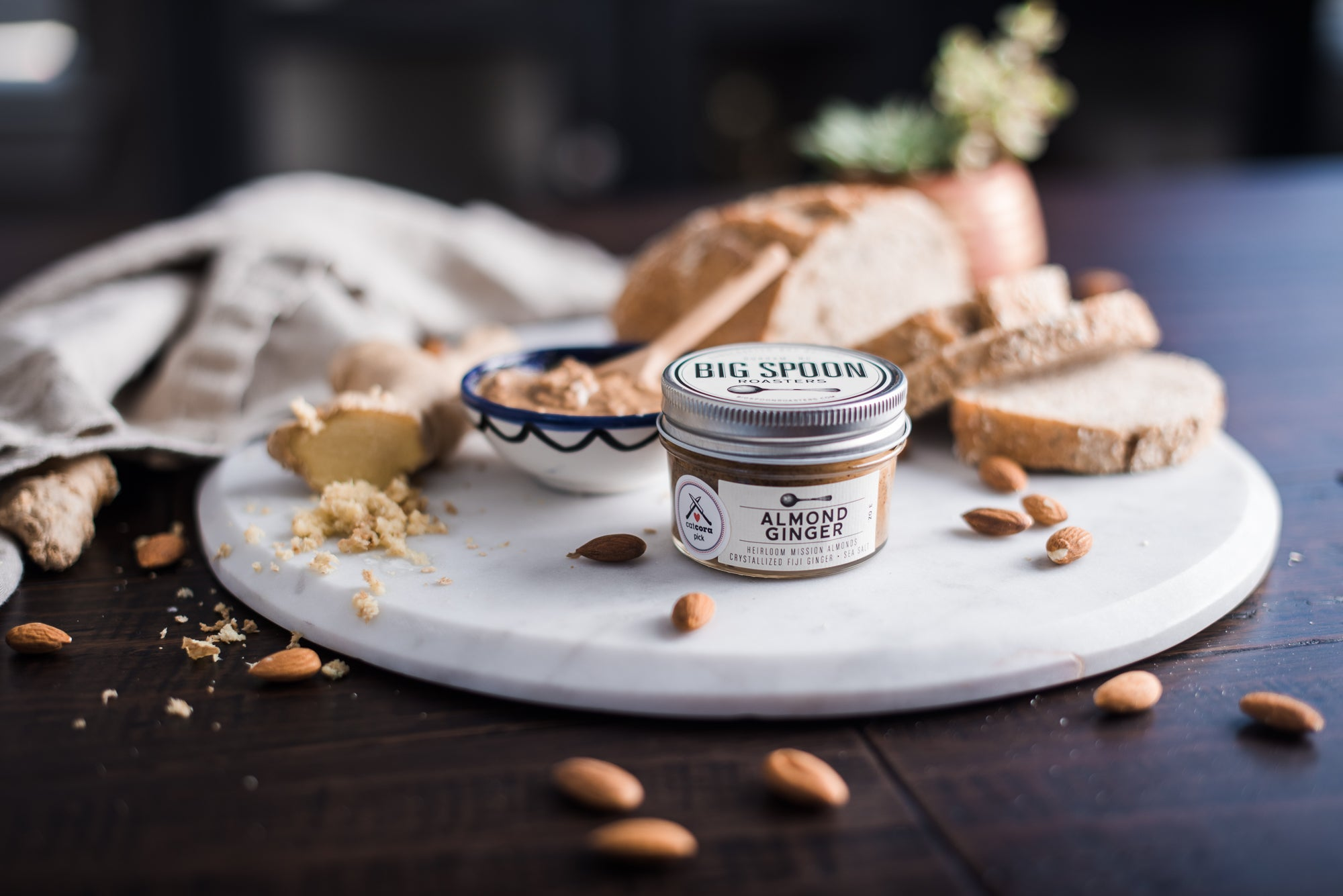 <a target='_blank' href='https://amzn.to/2Xyms5v'>Big Spoon Roasters Almond Ginger Butter</a>