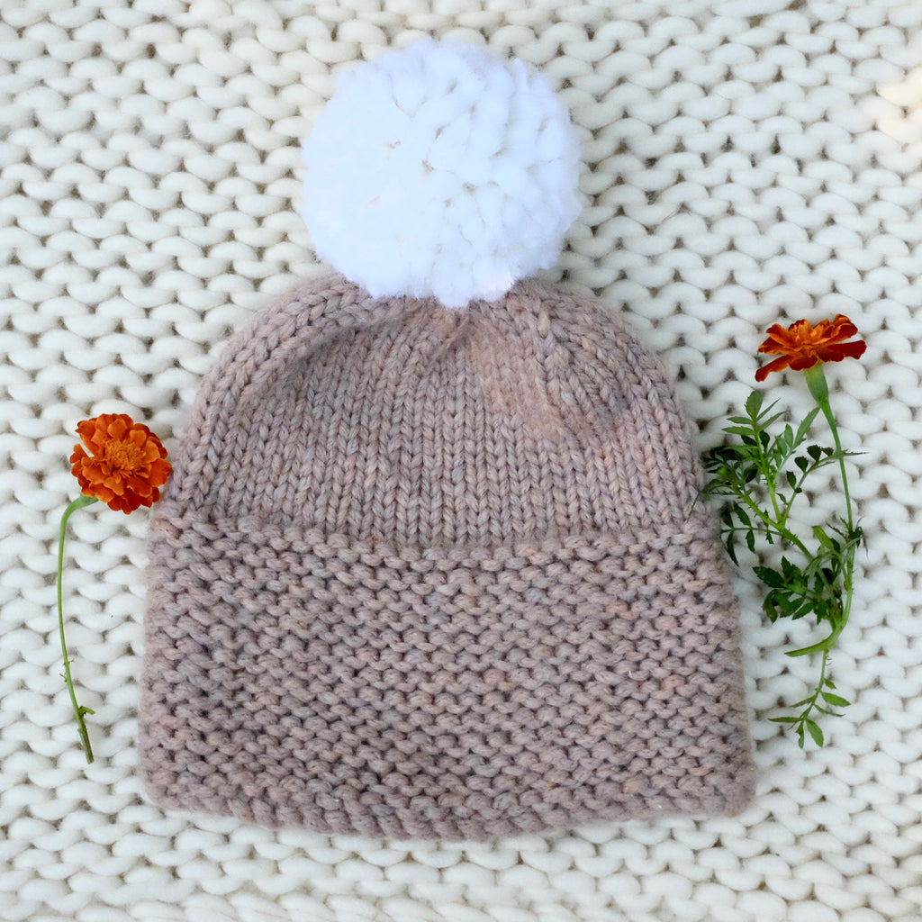 Knitting Pattern PDF Download - Pom Pom Hat