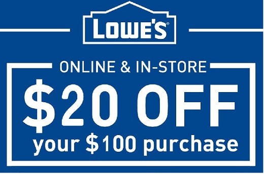 image relating to Printable Lowes Coupon identified as Just one Coupon - 9/22/2019