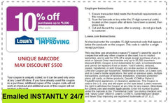 10 Coupons - EMAILED EXP 9/30/2019
