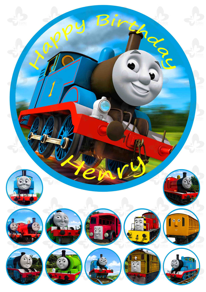Thomas The Tank Engine: Personalised Edible Cake Topper ...