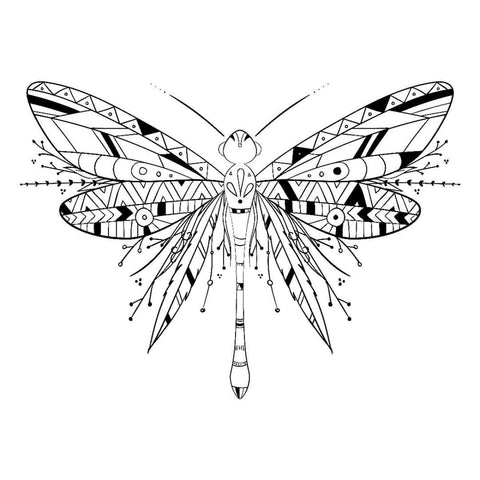 Abstract Black Butterfly - Temporary Tattoo