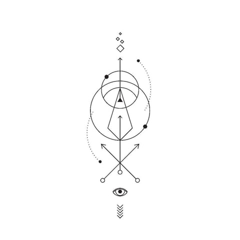 Abstract Eye and Arrows - Temporary Tattoo