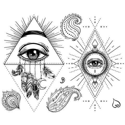 Abstract Eye Set - Temporary Tattoo