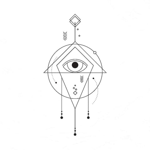Abstract Eye - Temporary Tattoo