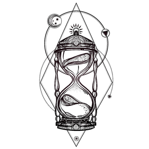 Abstract Hourglass - Temporary Tattoo