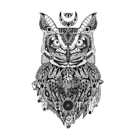 Abstract Owl - Temporary Tattoo