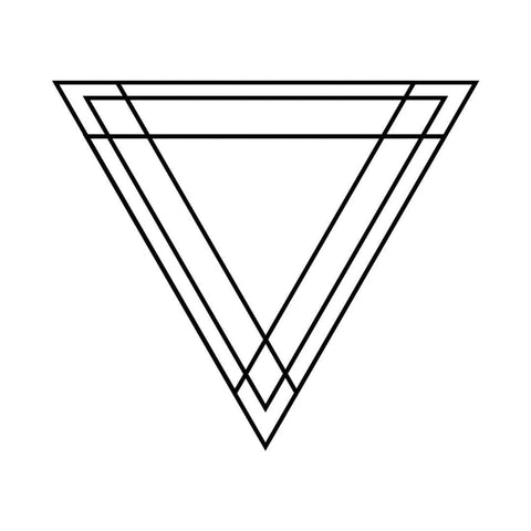 Abstract Triangle - Temporary Tattoo