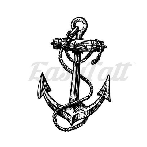 Anchor and Rope - Temporary Tattoo