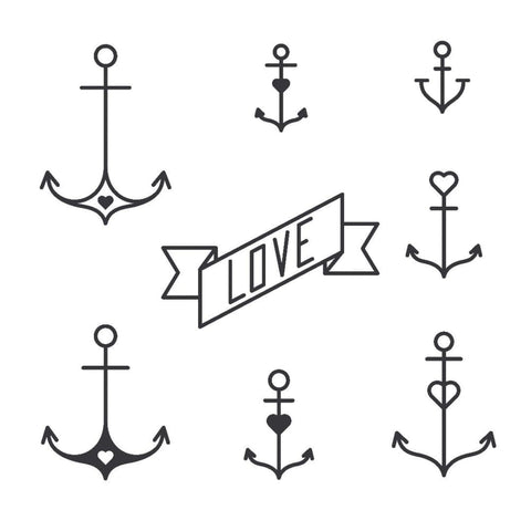 Anchor Set - Temporary Tattoo