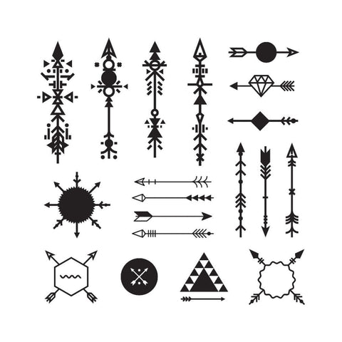 Arrow Collection - Temporary Tattoo