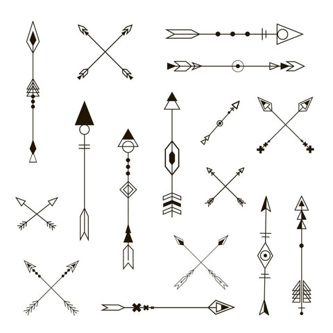 Arrow Designs - Temporary Tattoo