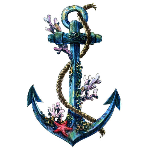 Colour Anchor - Temporary Tattoo
