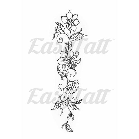 Flower Vine - Temporary Tattoo