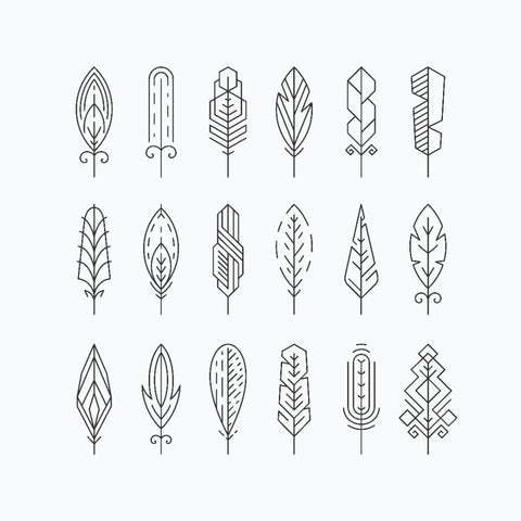 Little Leaf Shapes Set - Temporary Tattoo