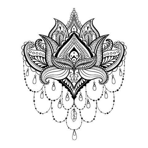 Lotus Chandelier - Temporary Tattoo